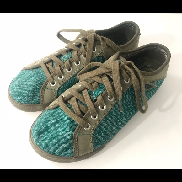 wholesale dealer fbb47 93509 ☮️ Keen shoes teal green gray canvas suede 40